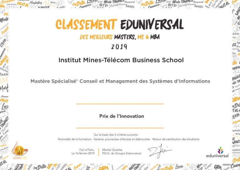 Institut Mines-Télécom Business School CMSI Prix de l Innovation 768x545 - MS Conseil et Management des Systèmes d'Information
