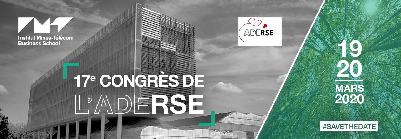 Bandeau Aderse 2020 IMTBS - 17ème Congrès de l'ADERSE