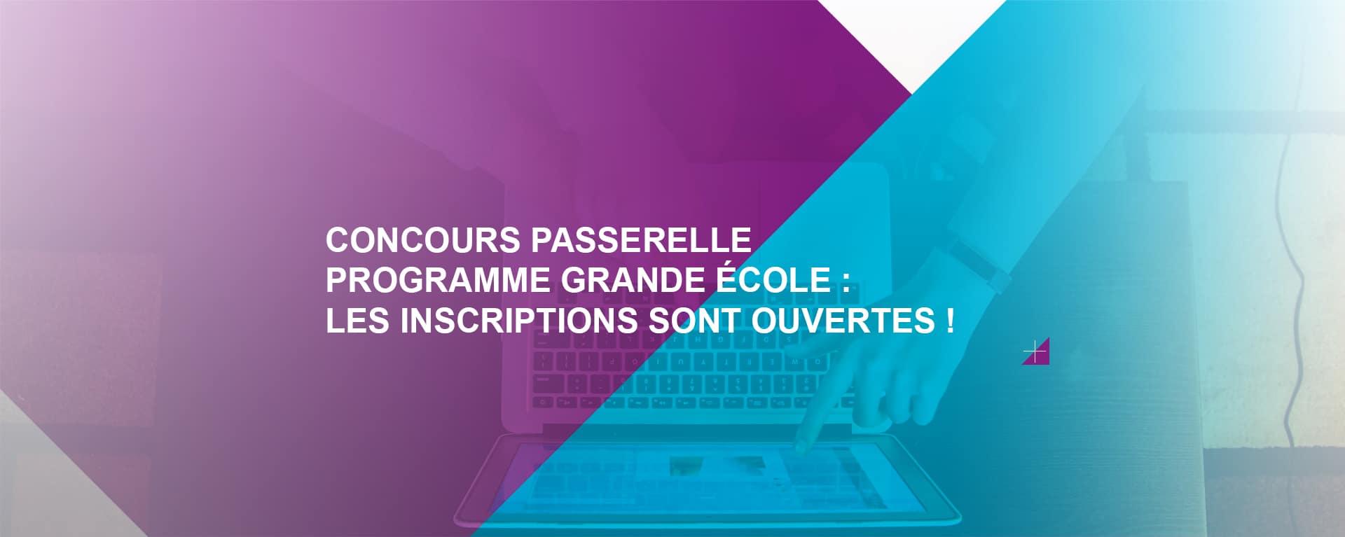 Concours Passerelle PGE _ Inscriptions ouvertes