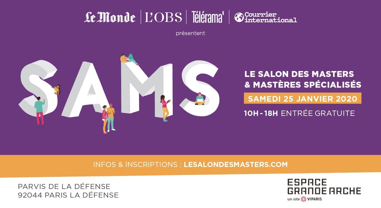 Salon   SAMS 2020 - 16<e>ème</e> édition du Salon des Masters et Mastères Spécialisés