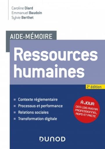 Dunod Aide mémoire RH - Aide-mémoire Ressources Humaines : parution de la 2e édition, co-écrite par Emmanuel Baudoin
