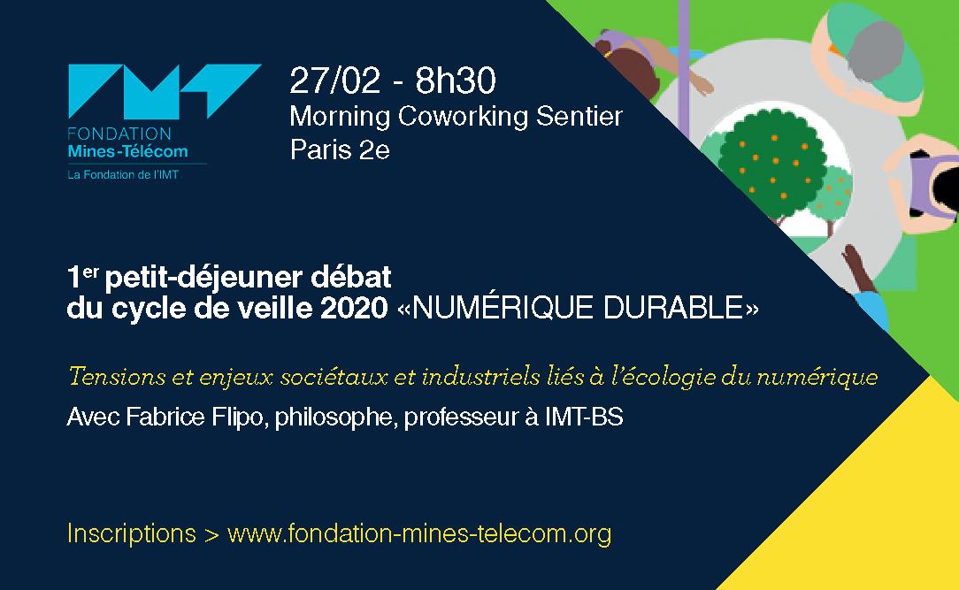 Petit déjeuner Fondation Mines Télécom Fabrice Flipo IMTBS - Les défis éthiques du numérique, petit-déjeuner débat avec Fabrice Flipo