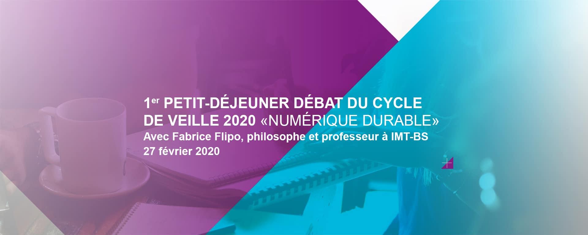 Défis éthiques du numérique, petit-déjeuner débat avec Fabrice Flipo