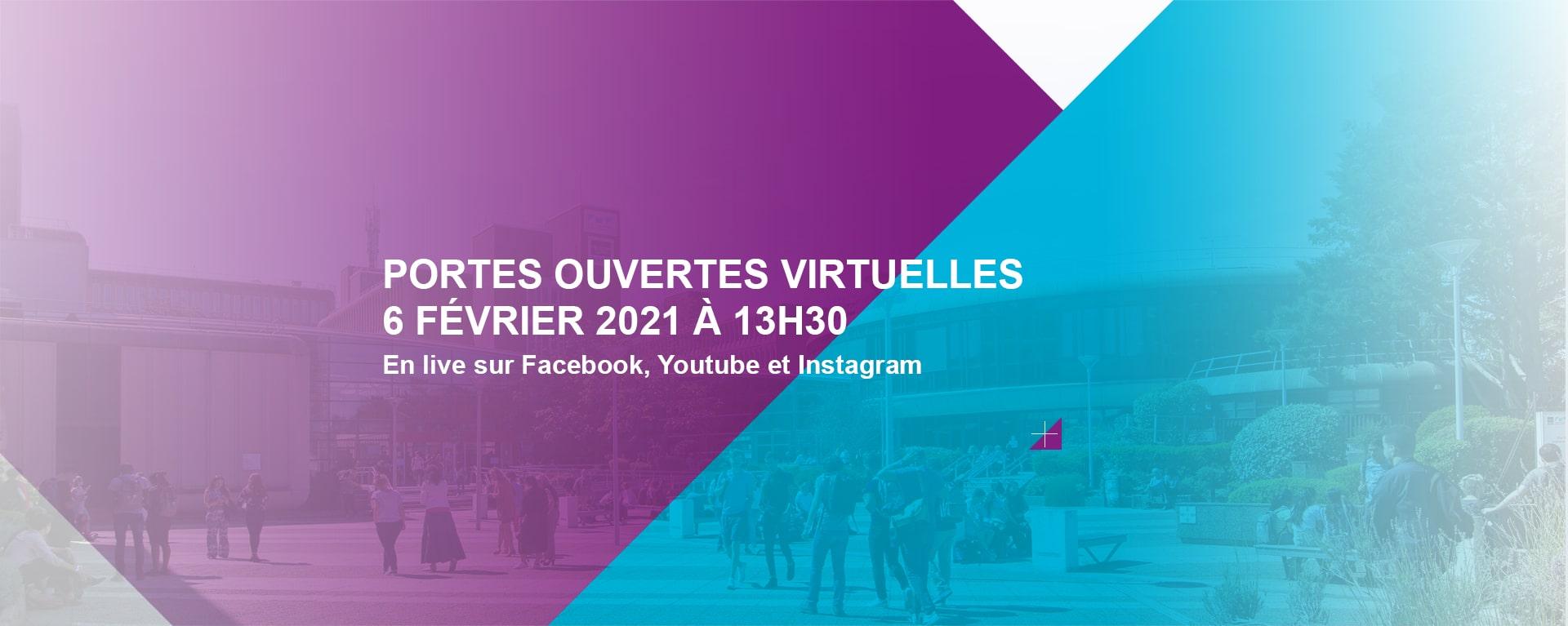 Portes ouvertes virtuelles - samedi 6 février 2021